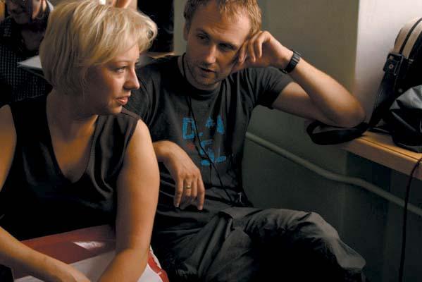 Marcin Koszałka i Magdalena Piekorz na planie